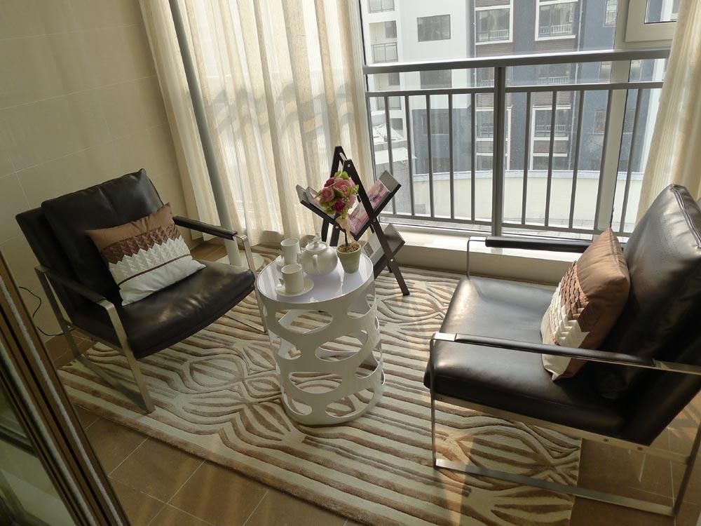 二居室阳台窗帘装修效果图大全2014图片